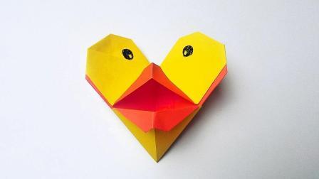 折纸王子折纸会说话的小黄鸭
