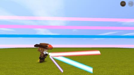 迷你世界: 教你制作3种激光! 红色, 蓝色和粉色谁的伤害更高?