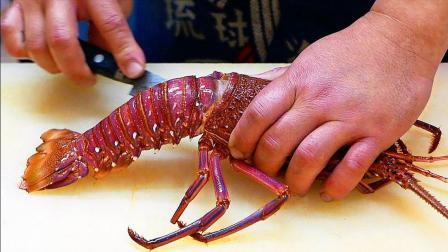 大龙虾刺身没吃过? 看日本大厨制作龙虾片, 看了你一定有胃口