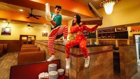 熊孩子恶搞, 二哥二嫂深夜躲藏餐厅做披萨, 老板看见监控怎么想?