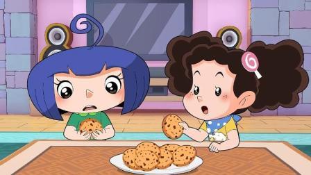 棉花糖和云朵妈妈:小苹果难过,云朵妈妈做了甜点给她吃!