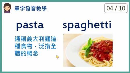 KK音标: 10种食物的发音教学