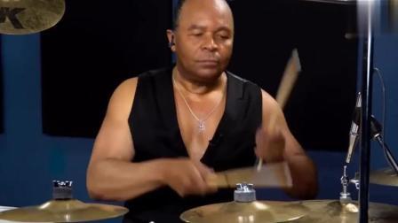 迈克尔杰克逊御用架子鼓手, 这一波架子鼓打得非常霸气_