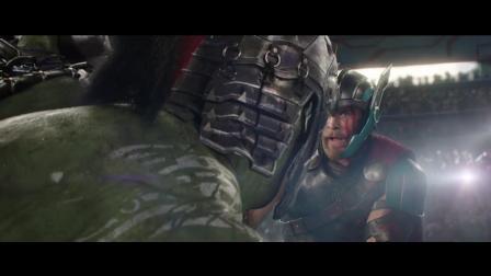 雷神用尽全力的一锤居然被绿巨人单只手轻松接住, 雷神瞬间懵了