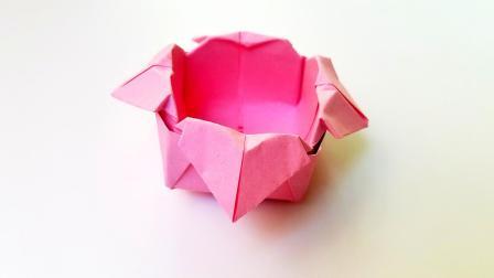 折纸王子教你折纸爱心盒子