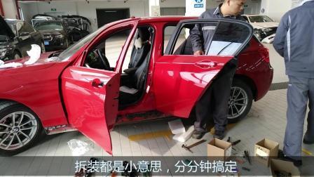 4S店钣金工人忙碌的一天, 终于把一系事故车修好了