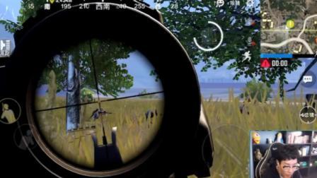 刺激战场奇怪君334 M16移动靶四杀, 单人四排双步枪21杀吃鸡 绝地求生刺激战场