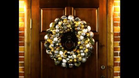 圣诞节如何为自己的小家制作美丽门上花环? 废弃轮胎和衣架都可以做到