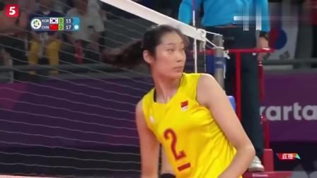 经典回顾: 亚运会朱婷18分助中国女排3-0横扫韩国!