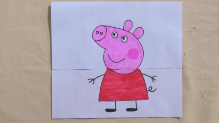 假如小猪佩奇会变身会是怎样? 用1张纸脑洞漫画, 有点颠覆想象