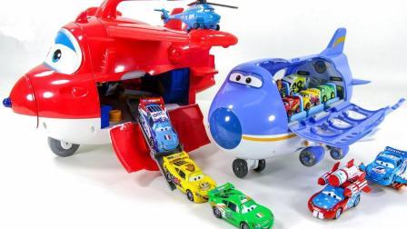 超级飞侠飞机运输汽车总动员的赛车