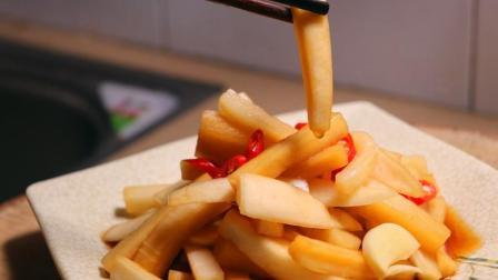 老师傅独家秘制腌白萝卜, 不用加水, 关键一步, 做出来酸甜脆爽