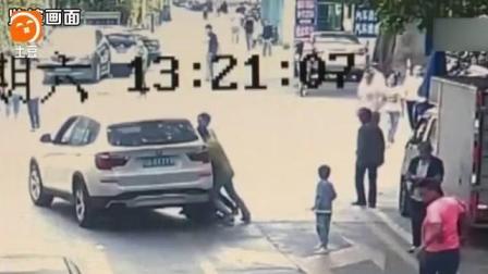 深圳6岁女童马路嬉戏遭轿车碾压