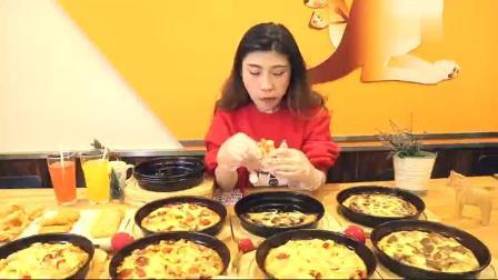 """大胃王桐桐吃""""10张9寸披萨""""这货怎么这么能吃"""