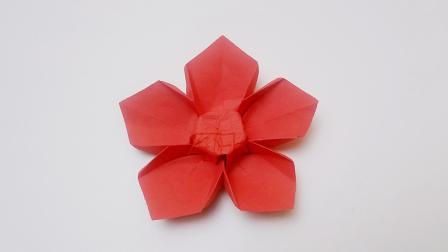 折纸王子折纸五瓣花
