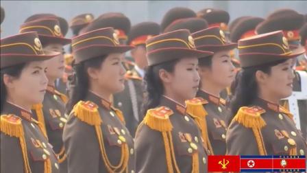 朝鲜女兵, 这正步踢得!