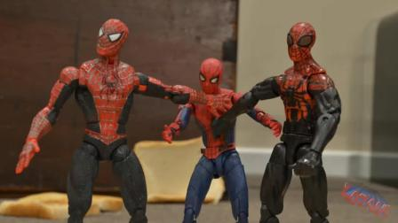 玩偶版复联: 3个蜘蛛侠没能打败毒液? 关键时刻绿巨人出场