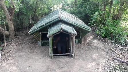 荒野生存 原始技能 生存哥 建造 竹屋