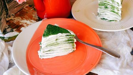 超详细步骤教你制作薄如蝉翼入口即滑的抹茶奶油千层蛋糕