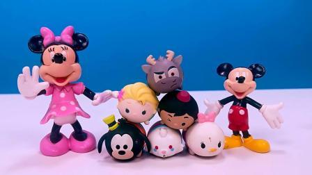 另一剧场:儿童玩具 迪士尼米奇,小熊维尼超萌豆豆公仔,层层叠叠乐