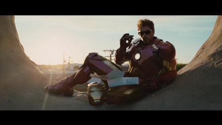 钢铁侠要是心情不好, 就穿着战甲飞到路边广告牌上面吃法式小面包