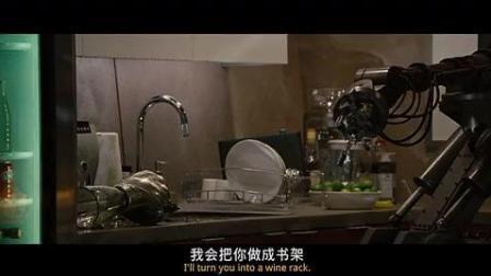 钢铁侠发誓要把家里面笨手笨脚的机器人小呆拆了, 机器人都吓怕了