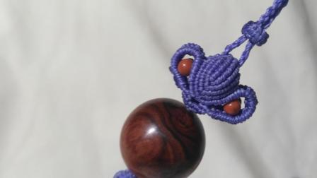 莲花形编绳海黄珠包挂编织教程
