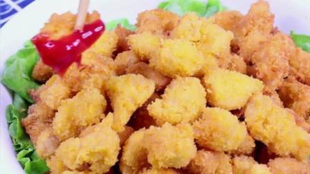 自制鸡米花, 面包糠可以用薯片捏碎后代替
