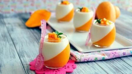 制作高颜值的牛奶芒果布丁