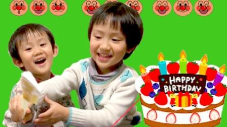 【happy face】【children】面包超人 做圣诞节蛋糕