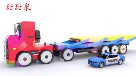 儿童汽车玩具蛋与糖果玩具学习颜色儿童英语歌曲儿歌童谣