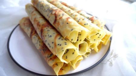 想吃蛋卷不用买, 教你在家做, 不需烤箱, 金黄酥脆, 酥到掉渣, 方法简单, 做法详细, 一看就懂