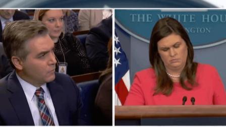 "CNN记者又回白宫了! 一来就是""追问三连击"""