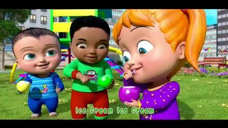 冰激凌儿歌 早教英语儿歌 有不同口味的雪糕 宝宝喜欢哪一个