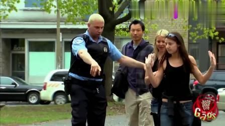 国外恶搞男子竟然用空气袋整蛊警察, 没想到结局却亮了!