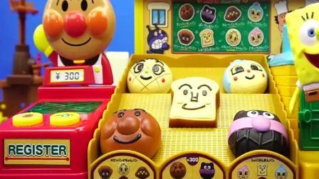 面包超人杂货面包店玩具, 还有好可爱的表情哦