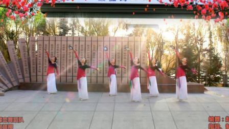兰州蝶恋舞蹈队:古典团扇舞《宫墙柳》团队版,编舞:赵璞玉老师