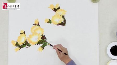 仙人掌刺多毫无美感? 那是你不知道国画画仙人掌花有多惊艳…