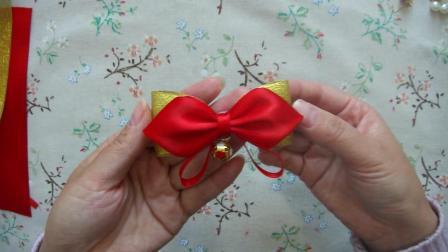 新年红色系丝带套装教程蝴蝶结头饰古风和风发夹手工diy发饰材料包