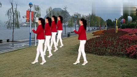 16步广场舞《山不转水转》经典老歌就是好听!