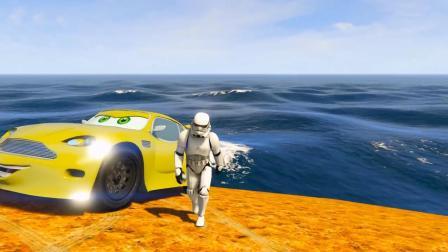 乐高小明开着辆超级炫酷的赛车在彩虹赛道上飞驰呢!