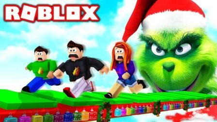 「妞宝宝」虚拟世界Roblox圣诞怪杰 帮助圣诞老公公夺回圣诞节 乐高小游戏