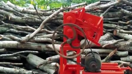 """农村大叔发明""""金刚钻""""劈柴机, 再粗的木头也能轻松劈开"""
