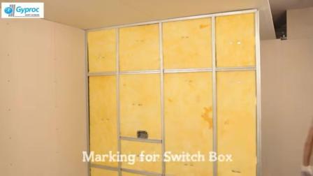 德国装修工人轻钢龙骨作房间隔断 布电线 隔音处理 并不比砌砖差