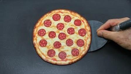好看又漂亮的手绘煎饼, 关键做法简单又能吃, 手绘披萨煎饼视频