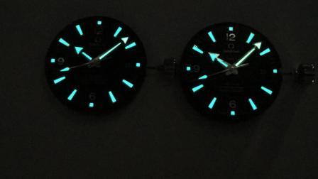 【夜光对比】VS海洋宇宙系列海马600对比正品.欧米茄232.30.46.21-三维腕表真假评测