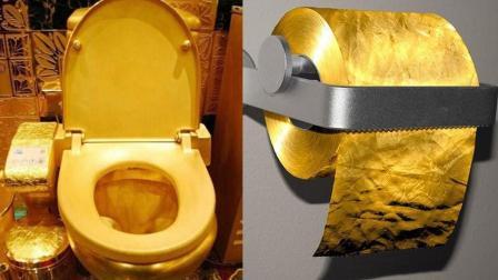 黄金马桶搭黄金厕纸实力演绎视金钱为粪土