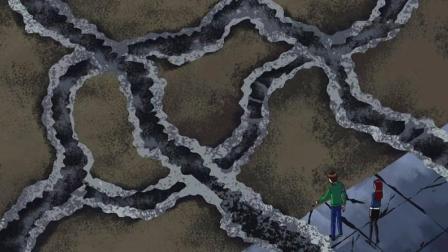 少年骇客: 诡异的存在, 不知名的怪兽所留的痕迹!