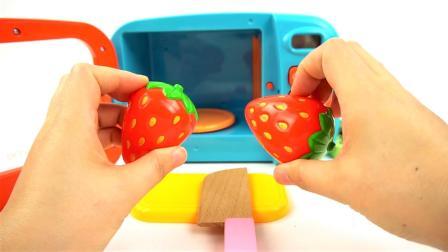 亲子英语-儿童手工厨房制作水果冰激凌学习颜色的英语