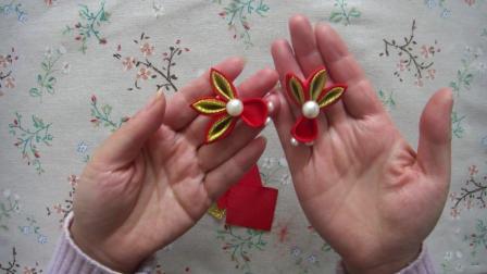 新年红色系丝带套装 蝴蝶结头饰古风和风发夹手工diy发饰材料包